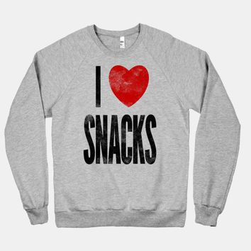 I Love Snacks (crew neck)
