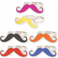Mustache Ring - IN MANY COLORS!