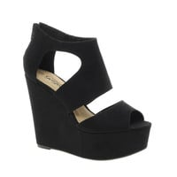 New Look Width Platform Wedge Shoes