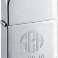 Zippo 1941 Replica Brushed Metal Lighter - Free Engraving