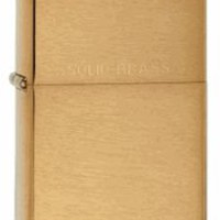 Zippo Brushed Brass Lighter - Free Engraving