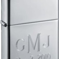 Zippo High Polish Chrome Lighter with Free Engraving