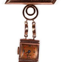 One Kings Lane - Maddie Sadofski - 1940s 14K Rose Gold Watch Pin