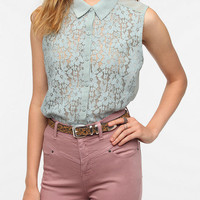 Urban Outfitters - Kimchi Blue Lace Button-Down Tank Top
