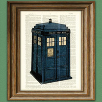 British BLUE POLICE BOX Booth beautifully upcycled by collageOrama