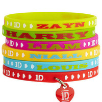 1D Gummy Band Bracelet Set