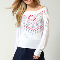 Amy Aztec Print Batwing Top