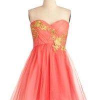 Sweet Organza A-line Sweetheart Applique Mini Prom Dress