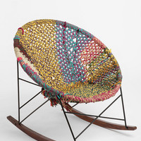 Hand-Woven Rocker- Brown One Size- Brown One