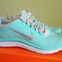 NIKE FREE RUN 3.0 V4 TROPICAL TWIST TIFF BLUE SIZE 8