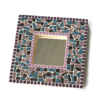 SALE Mirror , Purple Mosaic