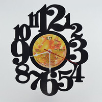 "RESERVED FOR Rachel ""Custom Order"" vinyl record clock (artist is Bing Crosby)"