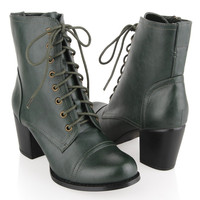 Medium Heel Leatherette Boots | FOREVER21 - 2015036517