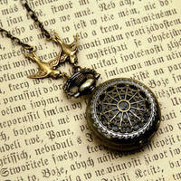 Small Pocket Watch Necklace - $30.00 : RagTraderVintage.com, Handmade Indie Retro Accessories