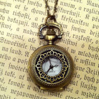 Brass Pocket Watch Necklace number 3 - &amp;#36;30.00 : RagTraderVintage.com, Handmade Indie Retro Accessories