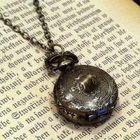 Brass Pocket Watch Necklace number 6 - $30.00 : RagTraderVintage.com, Handmade Indie Retro Accessories