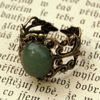 Adventurine Filigree Ring - $17.50 : RagTraderVintage.com, Handmade Indie Retro Accessories