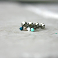 Choose Your Color: 2mm Labret Jewelry - Tragus, Cartilage, Monroe, etc.