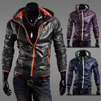 Designer Color Zip Men Slim Windbreaker Jacket
