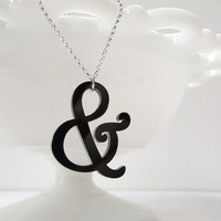 Harrington Ampersand Necklace by Isette on Etsy