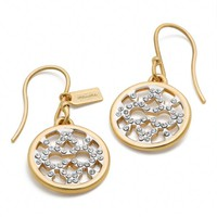 Coach :: Op Art Pave Disc Earring