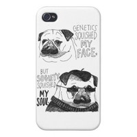 Pug Case iPhone 4 Cover from Zazzle.com