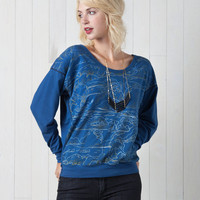 Clouds Drop Sleeve Sweatshirt