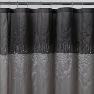Disco Silver Fabric Shower Curtain- Essential Home-Bed & Bath-Bath ...