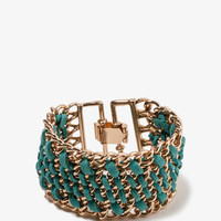 Woven Curb Chain Bracelet | FOREVER 21 - 1024400710
