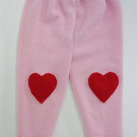 Cachmere Longie Pants with Hearts, Size 12-24 mos.