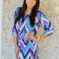 Candy Hearts Dress: Purple/Blue | Hope's