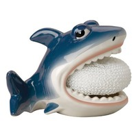 Boston Warehouse Shark Scrubby Holder