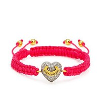 Pave Heart Friendship Bracelet