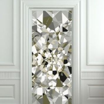 "GIANT Door STICKER diamond rhinestone crystal poster, mural, decole, film 30x79"" (77x200 Cm)"