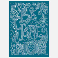 Green Girl Canvas: Be Here Now 8x10, at 15% off!