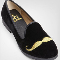 Golden Mustache Loafers