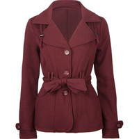FULL TILT Womens Belted Trench Coat  203591324 | Jackets | Tillys.com