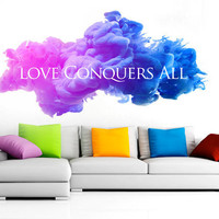 Love Conquers All  - Decal for housewares