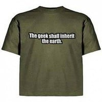 Geek Shall Inherit T-Shirt - Geek T-shirt Store  - Geek T-Shirts & Apparel