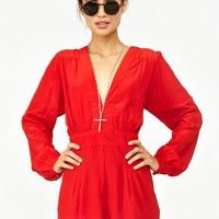 Jet Romper - Red