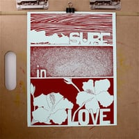 Surf in love print my Jeff Mac - Free Shipping!