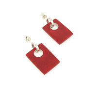Sterling Silver Red Jasper Earrings