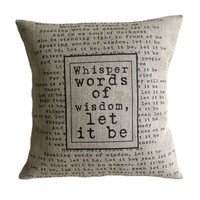 Personalised Lyrics Quote Pillow Cover