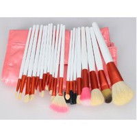 Amazon.com: 20pcs White Professional Cosmetic Makeup Make up Brush Brushes Set Kit With Pink Bag Case: Beauty