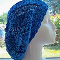 Victorian blue lace slouch hat SALE by BettyMarieJones on Etsy