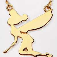 Disney Couture Gold Tinkerbell Necklace