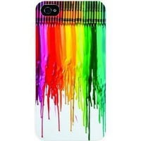 Amazon.com: Dripping colors/ crayon White Sides Hard Plastic Slim Snap on Case Cover for Apple Iphone 4 &amp; 4s in Everest Star Packaging: Cell Phones &amp; Accessories