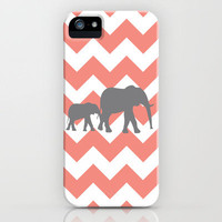 Chevron Elephants iPhone Case by Gathered Nest Designs | Society6