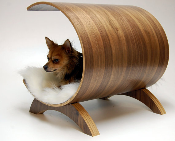 Dog pod lounge  Walnut by vurvdesign on Etsy