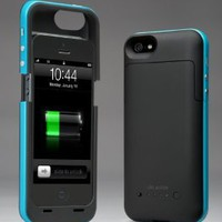 Amazon.com: i-Blason PowerPack iPhone 5 Rechargeable External Battery Glider Full Protection Case with Micro 5 Pin USB Charging Port - AT&amp;T, Sprint, Verizon (Blue): Electronics